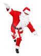 funny pose of santa claus