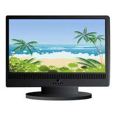 Beach panorama background