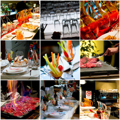 collage ristorante - collage restaurant