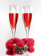 Two Champagne Flutes and Love Cuffs