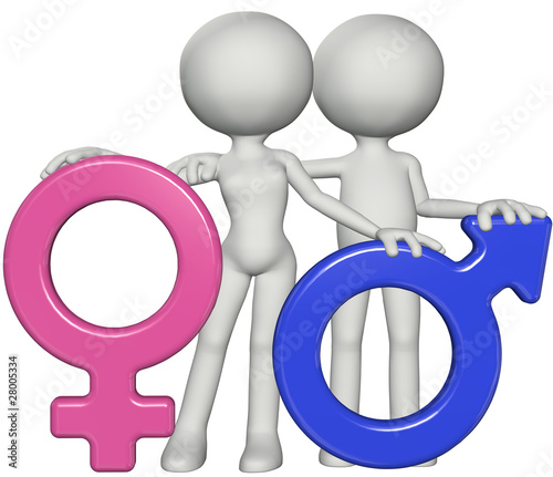 Boy and girl male female gender sex symbols