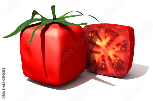 Cubic tomato and a half