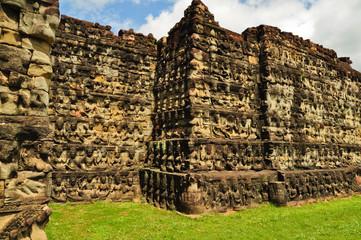 statue at Angkor Wat, Cambodia