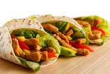 Fototapety Kebab - grilled meat and vegetables