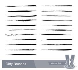 Set of dirty grunge brushes