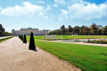 Belvedere park in  Vienna, Austria