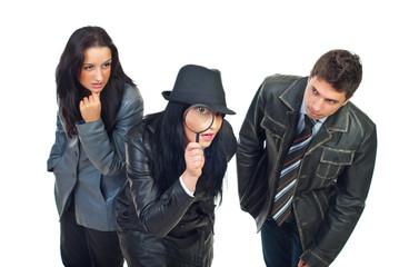 Three detectives investigate