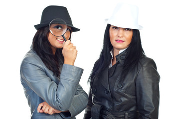 Portrait of two detectives women