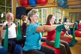 Fototapety Training mit Gymnastikband