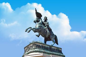 Statue at Heldenplatz in Vienna, Austria