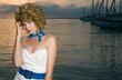 beauty woman at sea