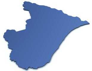 Karte von Sergipe - Brasilien