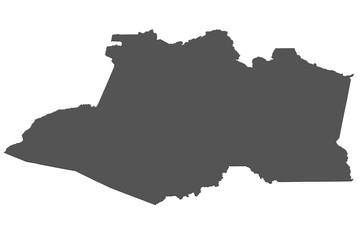 Karte von Amazonas - Brasilien