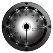 Tachometer grey isolated on white 3D render