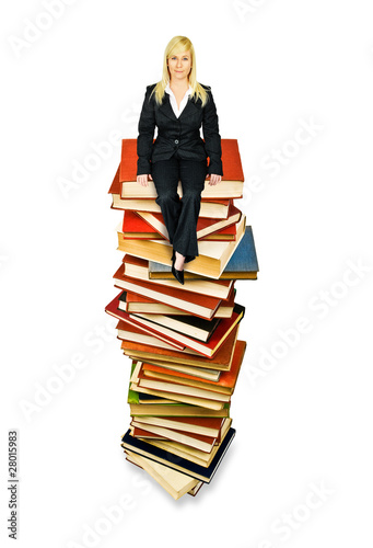 Sitting on books