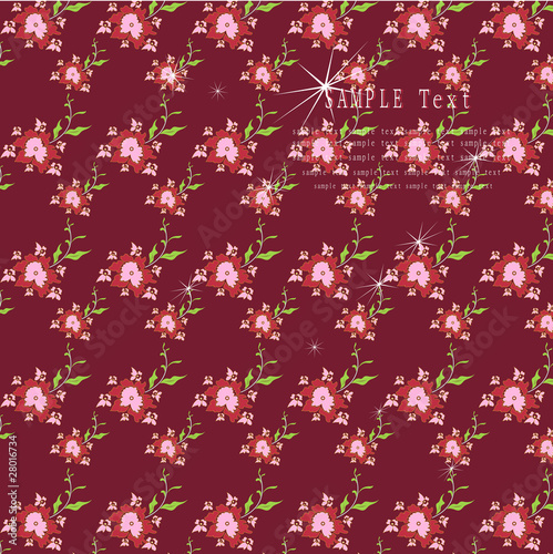 Romantic flower background .Vector