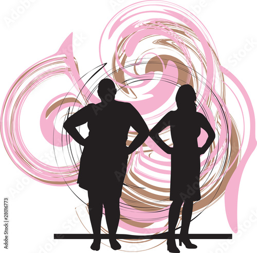 Girls on Thin   Fat Women Illustration    Aroas  28016773   See Portfolio
