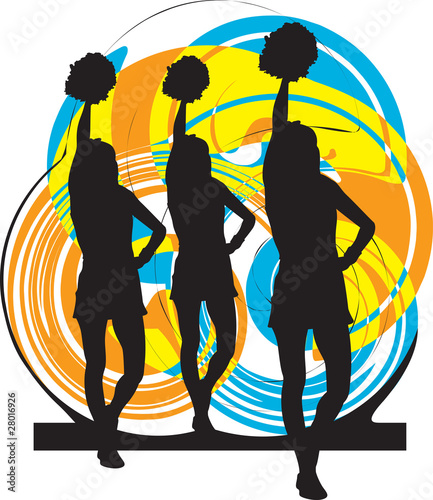 Cheerleaders illustration