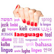 The word language in many different languages