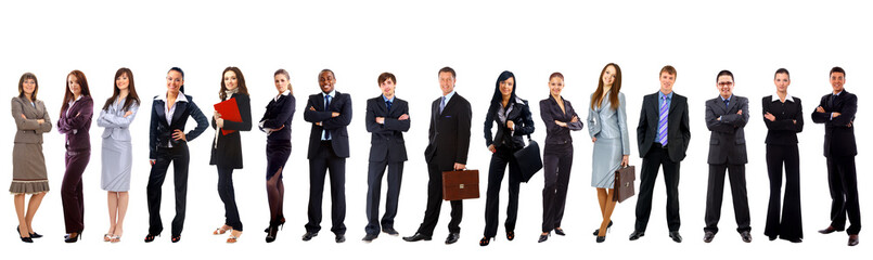 Young attractive business people - the elite business