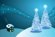 Abstract winter vector background scene
