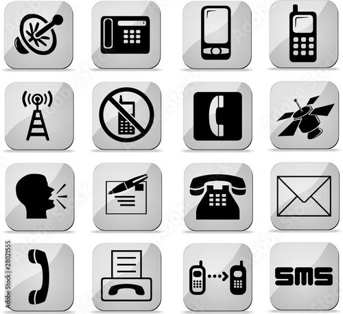 boutons télécommunication