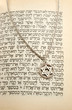 The Torah and silver chain with magen david