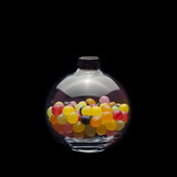 Multicolored Sweets in Glass Bottle 01