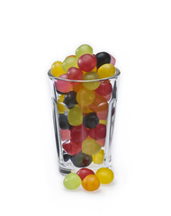 Multicolored Sweets in a Glass 03