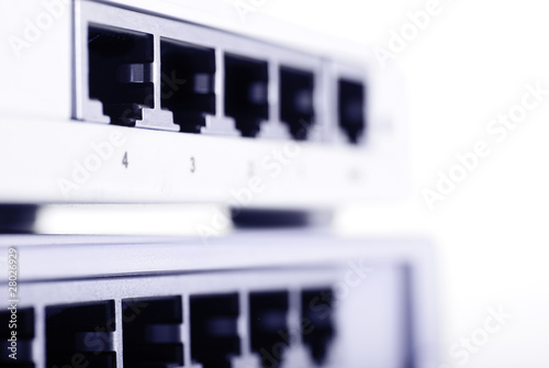 macro of empty lan switch slot.