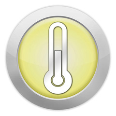 "Light Colored Icon (Yellow) ""Temperature / Thermometer"""