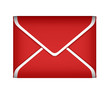 Mail and post Red sealed envelope isolated