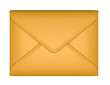 Mail and post - sealed paper envelope isolated