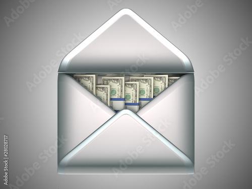 Доллары США в открытом конверте, иллюстрация 2565114 (c) Арсений...