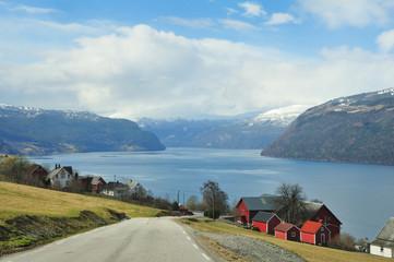 Hilly Fjord Landscape