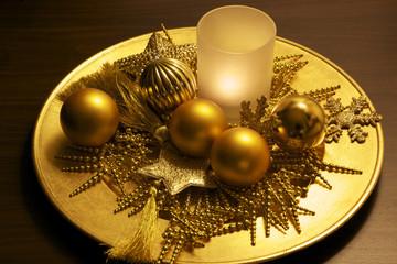 weihnachtlicher teller