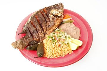 Mojarra Frita, a Mexican entree with fish