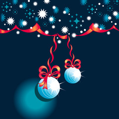 Abstract background with Christmas toys