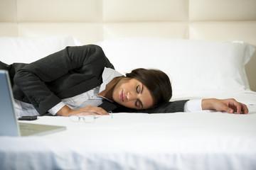 Asleep Businesswoman