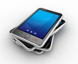 Black mobile smartphones