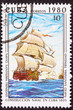 Canceled Cuba Postage Stamp Santísima Trinidad Ship of the Line