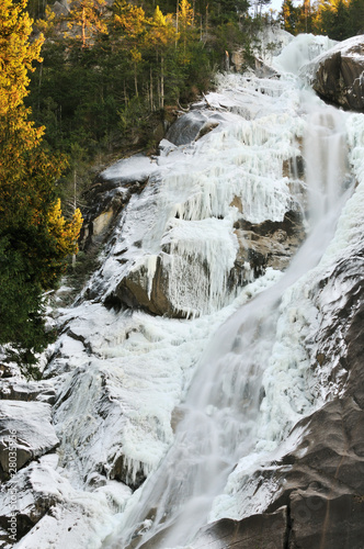 Shannon falls in winter