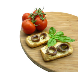 Acciughe e crostini