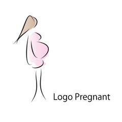 Logo pregnant and maternity (vector)