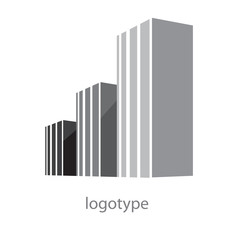 Logo city architecture in cement (vector)
