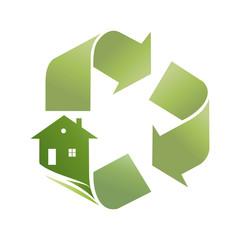 Logo Eco house (vector)
