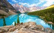 Fototapeten,berg,kanada,moräne,see