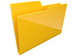 Folder. Directory. empty, 3D icon