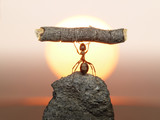 Statue of Labour, 150 million years of ants civilization poster