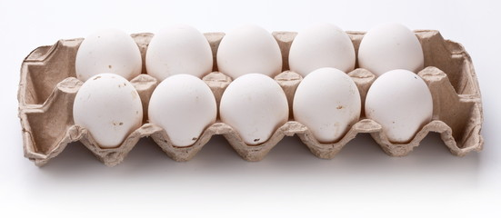 Photo of eggs package.